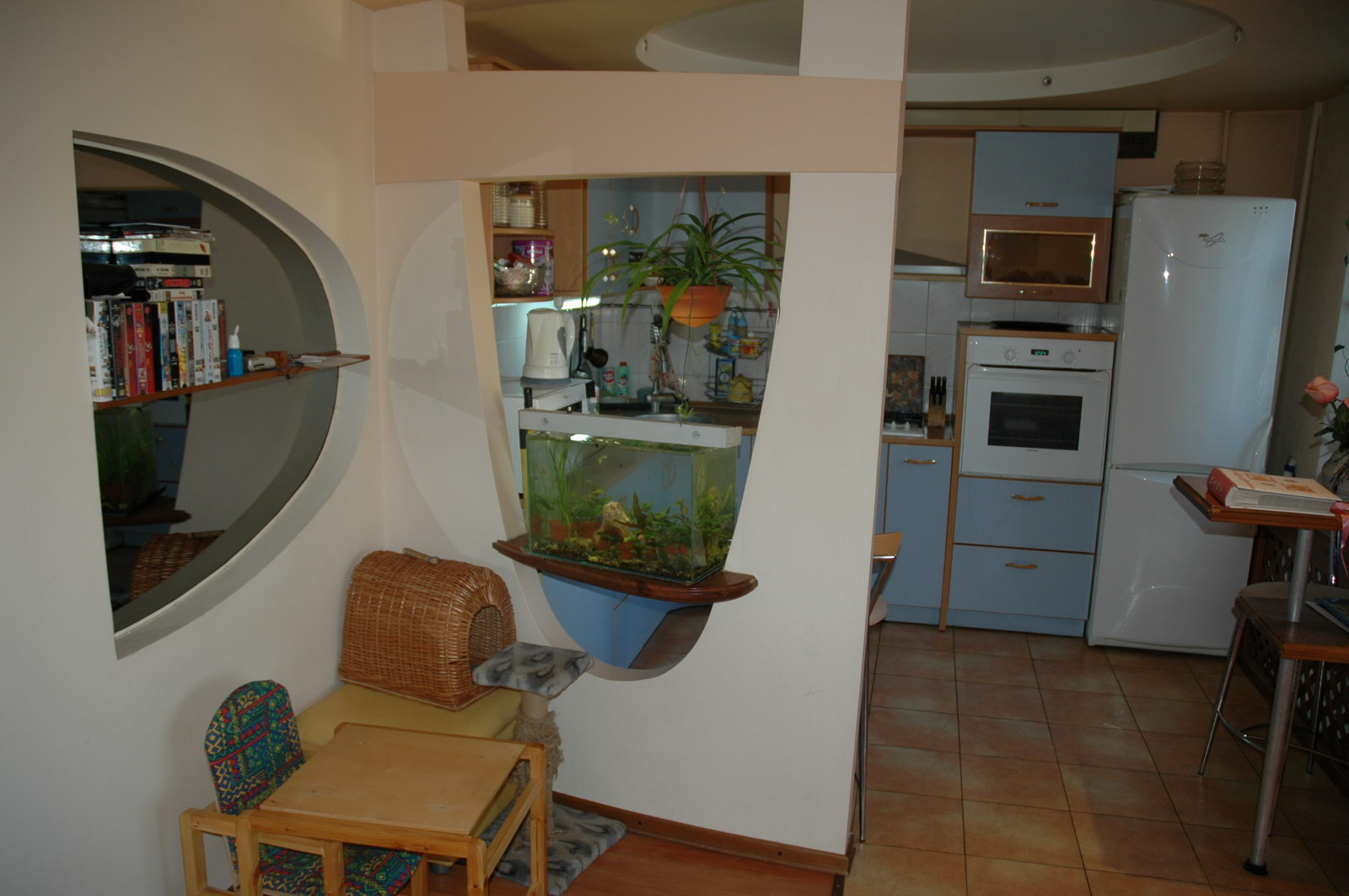 Перегородка из гипсокартона на кухне фото своими руками